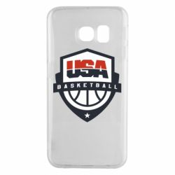 Чехол для Samsung S6 EDGE USA basketball