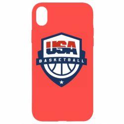 Чехол для iPhone XR USA basketball