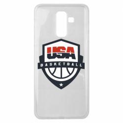 Чехол для Samsung J8 2018 USA basketball