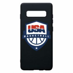 Чехол для Samsung S10+ USA basketball