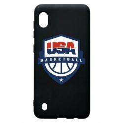 Чехол для Samsung A10 USA basketball