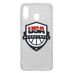 Чехол для Samsung A20 USA basketball