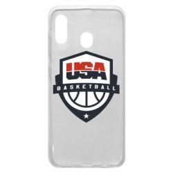 Чехол для Samsung A30 USA basketball