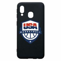 Чехол для Samsung A40 USA basketball