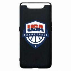 Чехол для Samsung A80 USA basketball