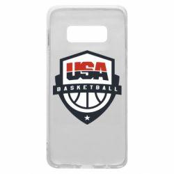 Чехол для Samsung S10e USA basketball