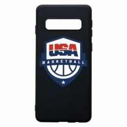 Чехол для Samsung S10 USA basketball