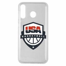 Чехол для Samsung M30 USA basketball
