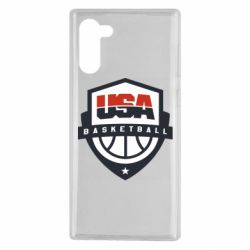 Чехол для Samsung Note 10 USA basketball