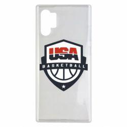 Чехол для Samsung Note 10 Plus USA basketball