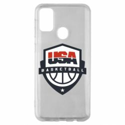 Чехол для Samsung M30s USA basketball