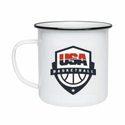 Кружка емальована USA basketball
