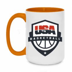 Кружка двоколірна 420ml USA basketball