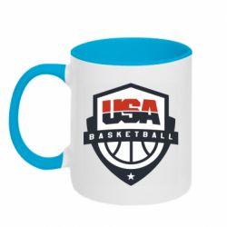 Кружка двоколірна 320ml USA basketball