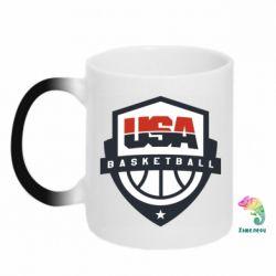 Кружка-хамелеон USA basketball