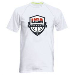 Мужская спортивная футболка USA basketball