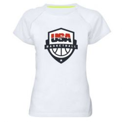 Женская спортивная футболка USA basketball
