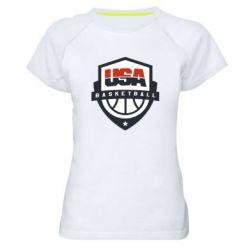 Жіноча спортивна футболка USA basketball