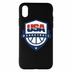 Чехол для iPhone X/Xs USA basketball
