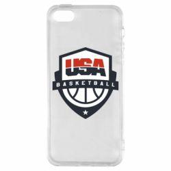 Чехол для iPhone5/5S/SE USA basketball