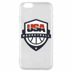 Чехол для iPhone 6/6S USA basketball