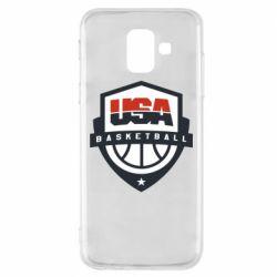 Чехол для Samsung A6 2018 USA basketball