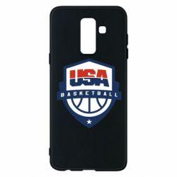 Чехол для Samsung A6+ 2018 USA basketball