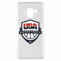Чехол для Samsung A8 2018 USA basketball