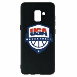 Чехол для Samsung A8+ 2018 USA basketball