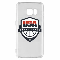 Чехол для Samsung S7 USA basketball