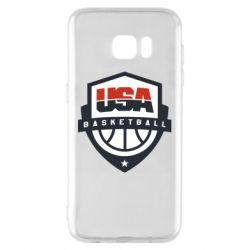 Чехол для Samsung S7 EDGE USA basketball