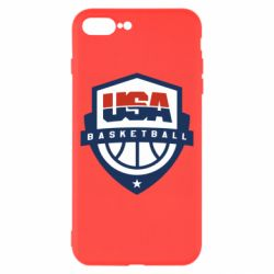 Чехол для iPhone 8 Plus USA basketball