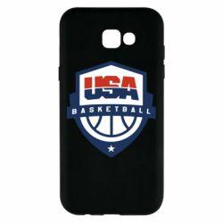 Чехол для Samsung A7 2017 USA basketball