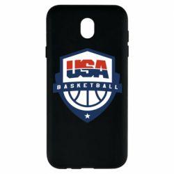 Чехол для Samsung J7 2017 USA basketball