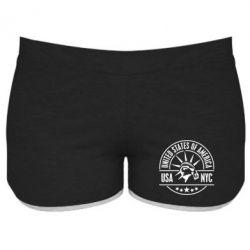 Женские шорты USA NYC - FatLine