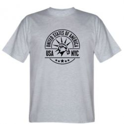 Мужская футболка USA NYC - FatLine