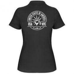 Женская футболка поло USA NYC - FatLine