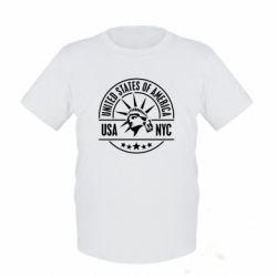 Детская футболка USA NYC - FatLine