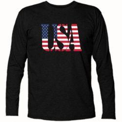 Футболка с длинным рукавом USA - FatLine