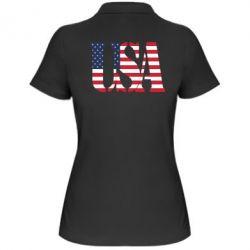 Женская футболка поло USA - FatLine