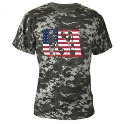 Камуфляжная футболка USA - FatLine
