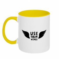 Кружка двоколірна 320ml Use your wings