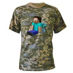 Камуфляжная футболка Уставший Стив - FatLine