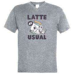 Чоловіча футболка з V-подібним вирізом Usual milk
