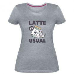 Жіноча стрейчева футболка Usual milk