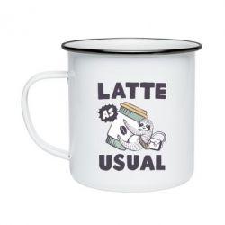 Кружка емальована Usual milk