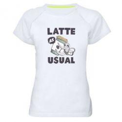 Жіноча спортивна футболка Usual milk