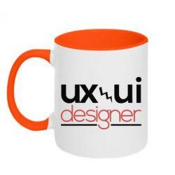 Кружка двухцветная UX UI Designer - FatLine