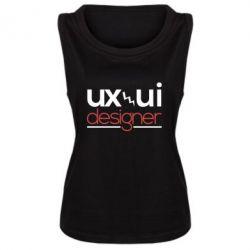 Женская майка UX UI Designer - FatLine