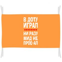 Флаг В Доту играл, ни разу мид не про**ал